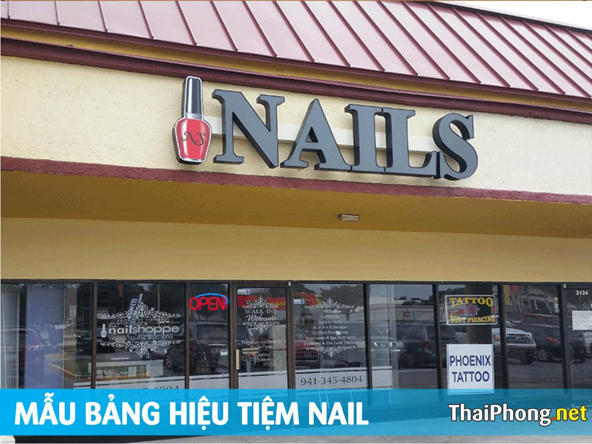 Chữ nỗi tiệm nails đơn giản những đẹp