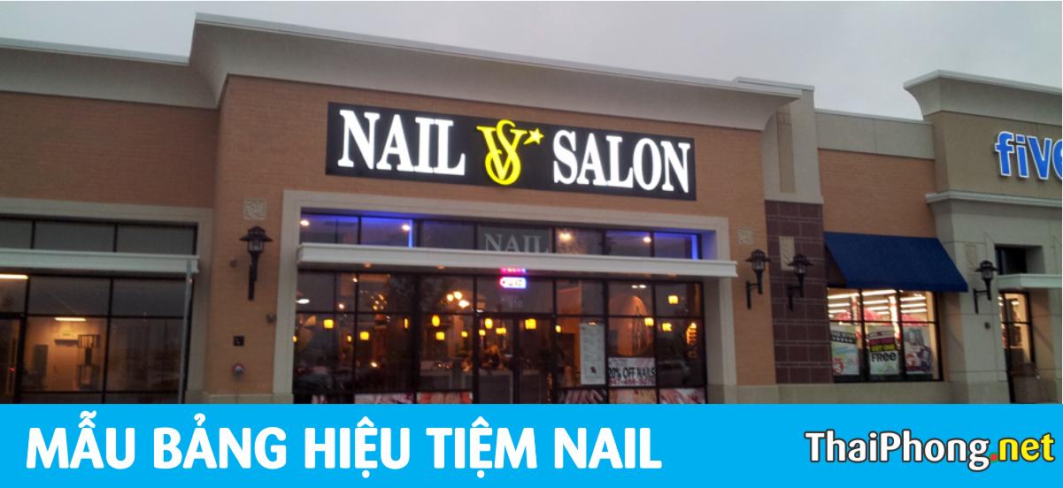 Bảng hiệu nail và Salon