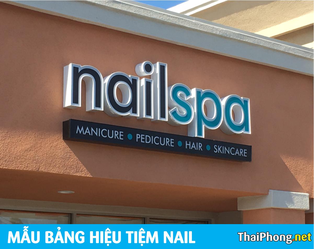 Bảng hiệu Nail Spa chữ nỗi
