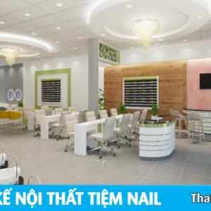 Mẫu thiết kế nội thất tiệm Nails đẹp