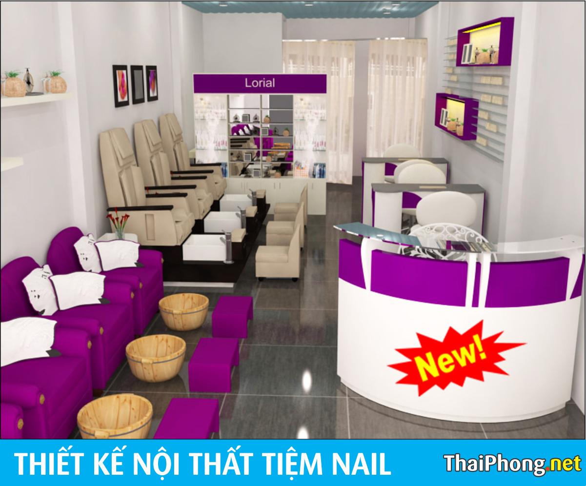 Mẫu tiệm nails đẹp tại Hà Nội