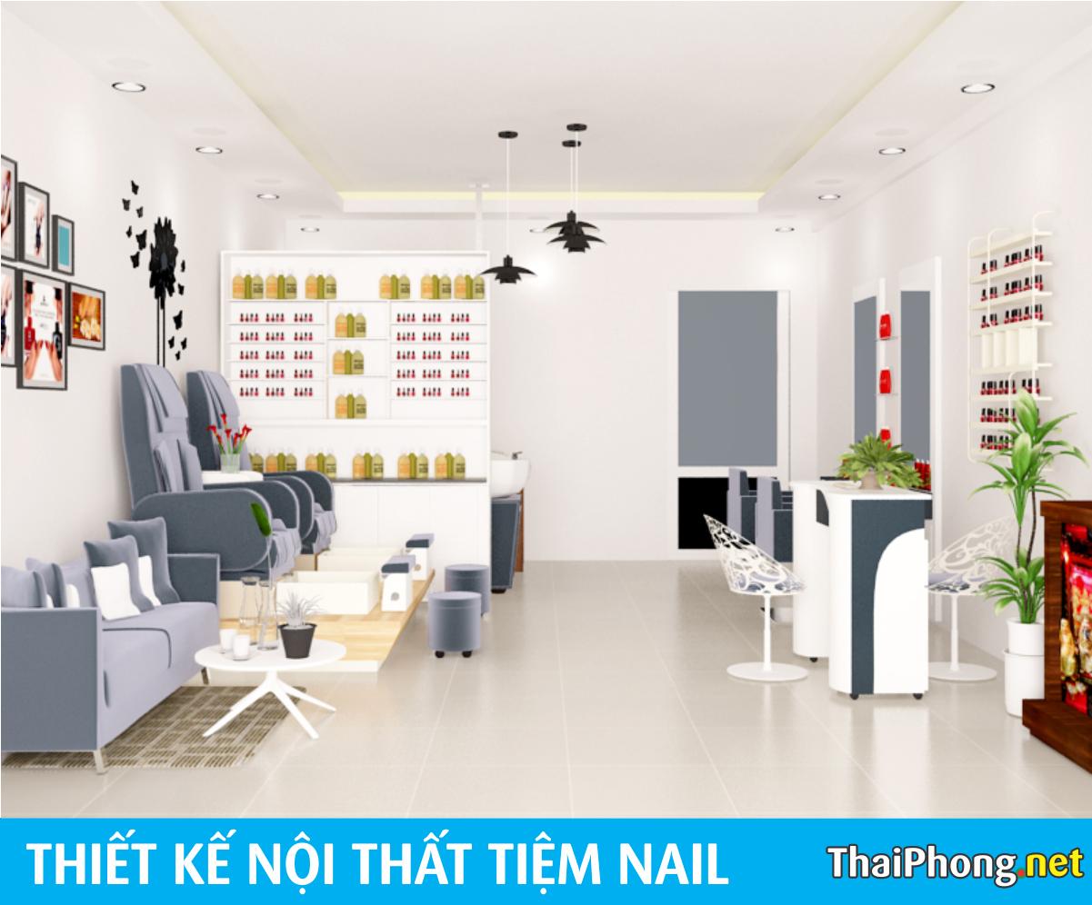 Thiết kế tiệm nails sang trọng