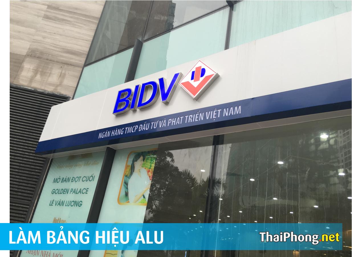 Bảng alu ngân hàng BIDV