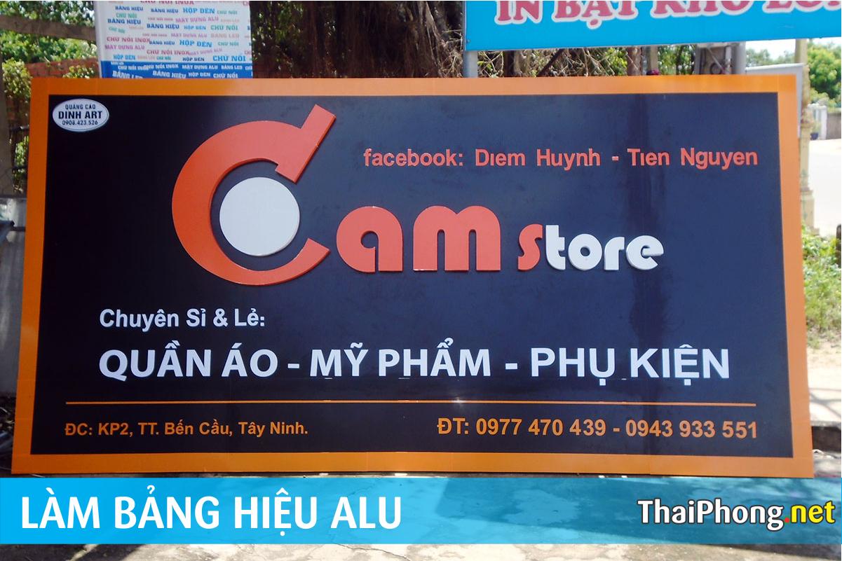 Bảng Alu Cam store tây ninh