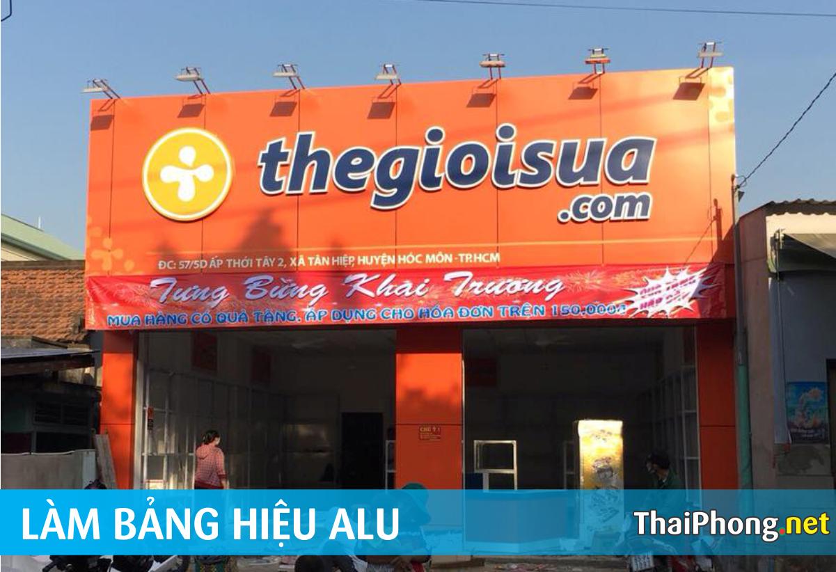 Bảng hiệu thegioisua.com bằng Alu