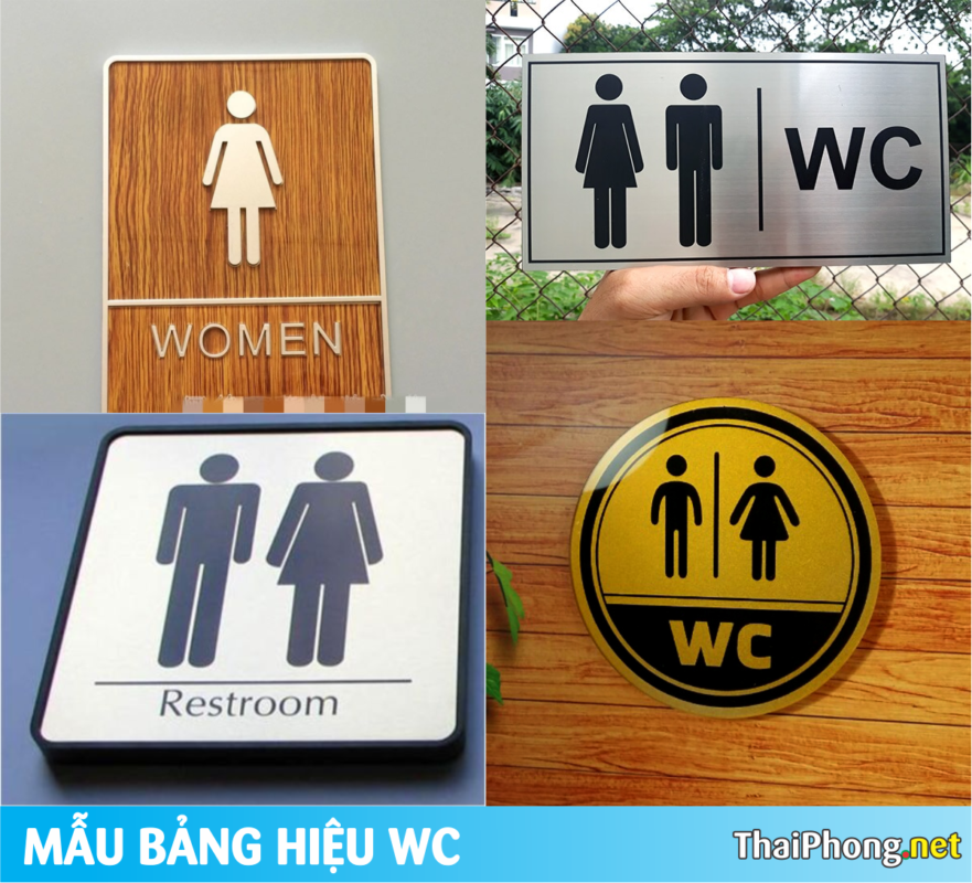 làm bảng hiệu wc