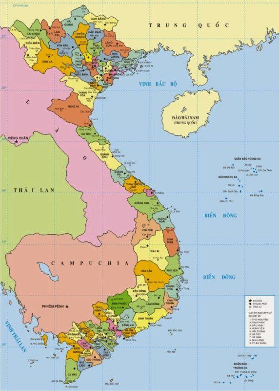 Bản đồ Việt Nam file Corel