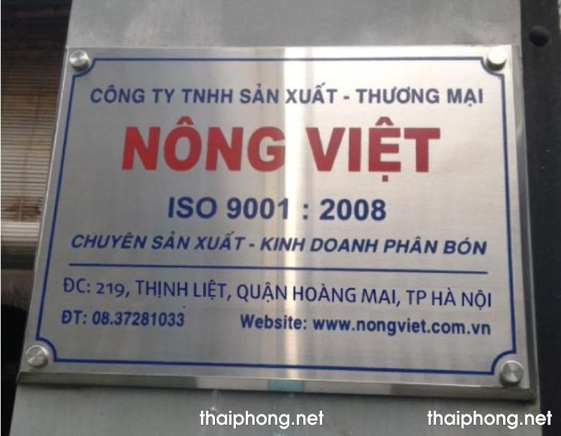 mẫu biển hiệu công ty inox ăn mòn
